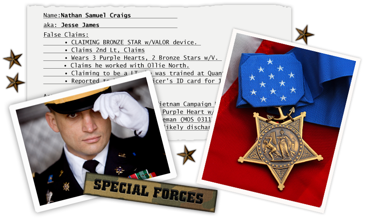 Stolen Valor images of military service FOIA